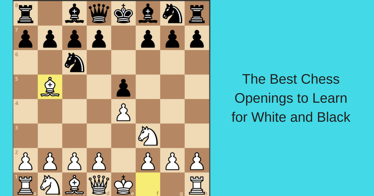 white and black best openings