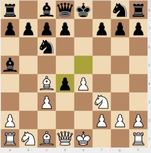 evan's gambit Ba5 6...exd4