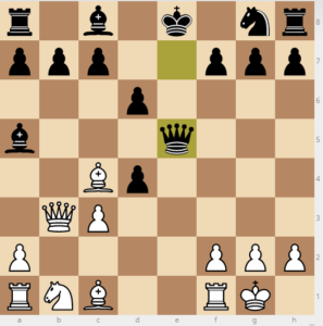 evans gambit 7 d6 variation 10Qxe5