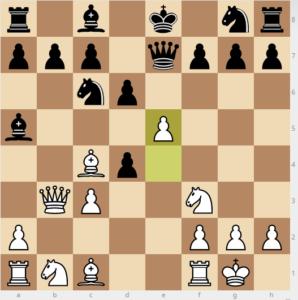 evans gambit 7 d6 variation 9e5