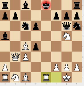 evans gambit Ba5 d6 variation move 12 re1