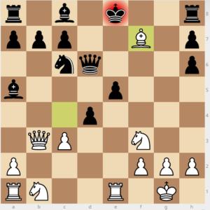 evans gambit Ba5 d6 variation move 13 Bxf7