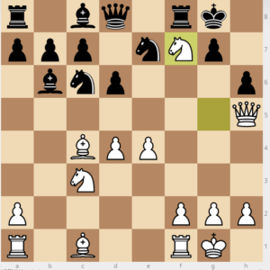 evans gambit Bb6 main 11 nxf7