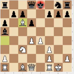evans gambit Bb6 variation move 9 bg4 13 bxc6