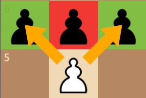 how pawns attack