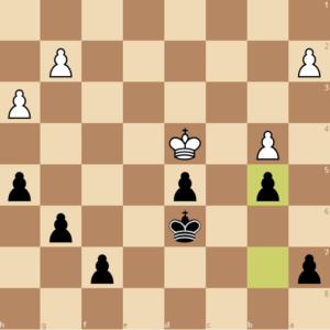 lock down the pawn on the queenside