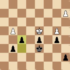 trade pawns in endgame