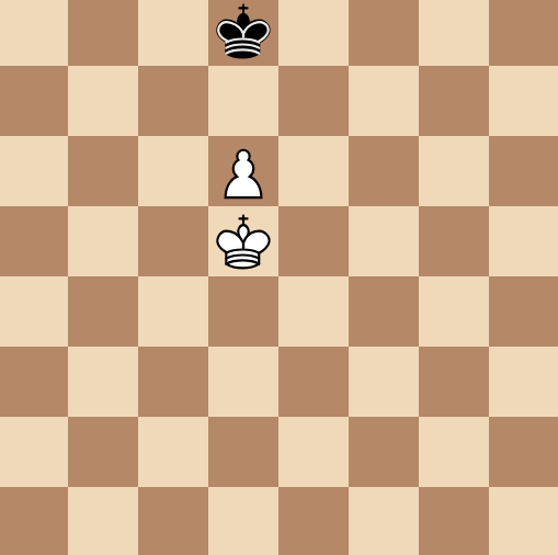 the pawn in front of the king cannot queen