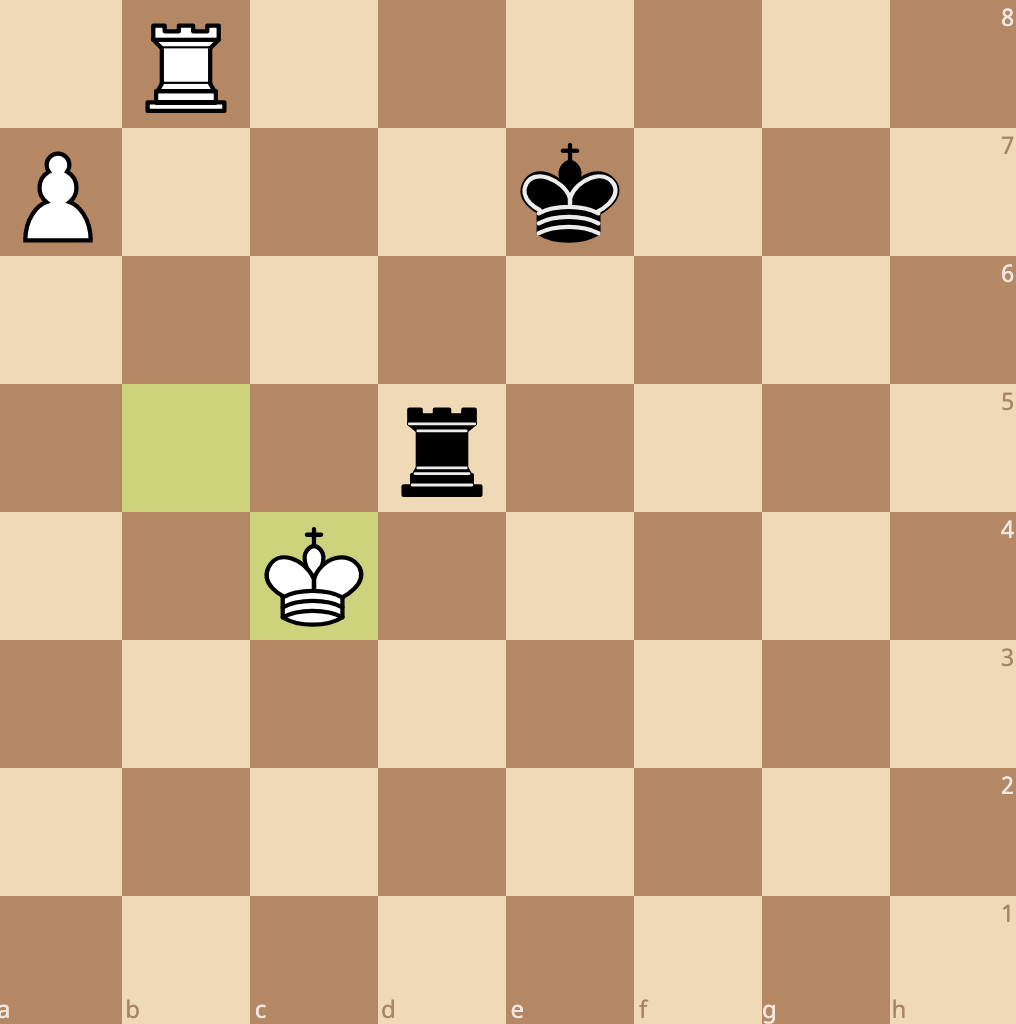 the pawn is supported by the rook
