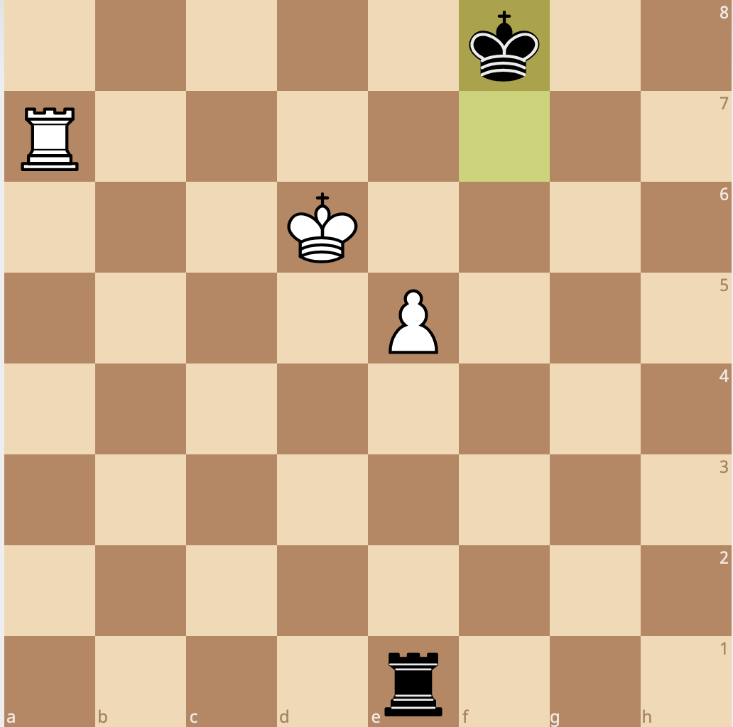 the pawn has trouble advancing