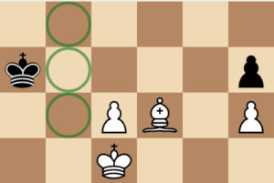 bishop isolating the king chess