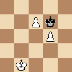 king vs 2 passed pawns chess endgame