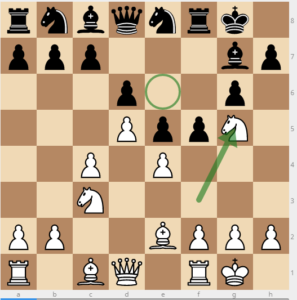 kings indian weak square