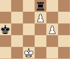 rook vs 2 passed pawns chess