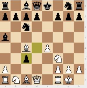 1 - evans gambit Ba5 dxc3 variation move 7 dxc3