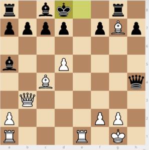 bobby fischer vs reuben fine evans gambit 7 dxc3 variation 16 re1+