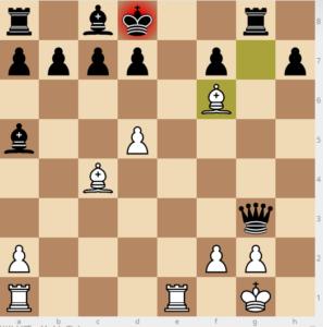bobby fischer vs reuben fine evans gambit Ba5 dxc3 Qe7 variation move 17 Qxg3