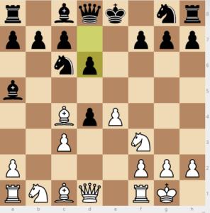 evans gambit 7 d6 variation