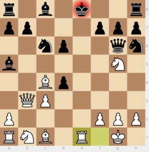 evans gambit Ba5 d6 variation move 12 re1