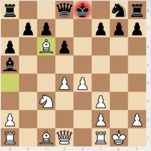 evans gambit Bb6 variation move 9 bg4 13 bxc6