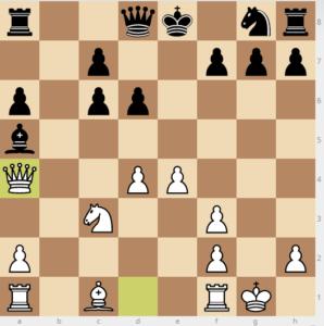 evans gambit Bb6 variation move 9 bg4 14 qa4
