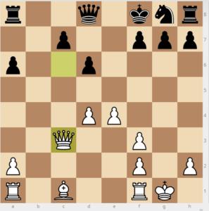 evans gambit Bb6 variation move 9 bg4 16 Qxc3