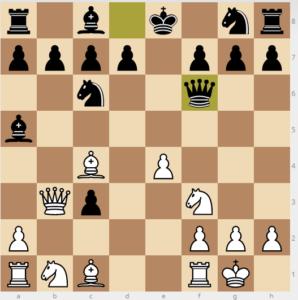 evans gambit dxc3 8...qf6