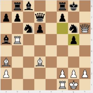 evans gambit dxc3 variation 22 fxg5