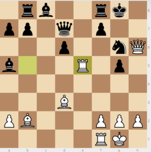 evans gambit dxc3 variation 25 rxe5