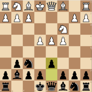 A typical begining to the king's indian defense.