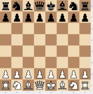 chess starting board