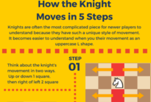 How the knight moves infographic