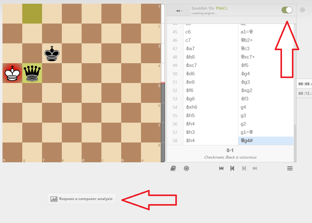 how to use lichess engine