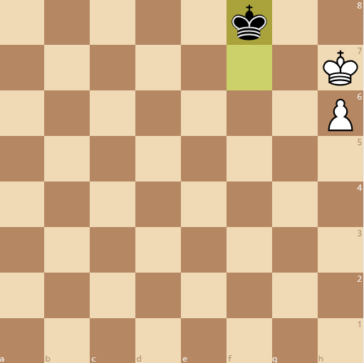 the king can reach the queening square as black