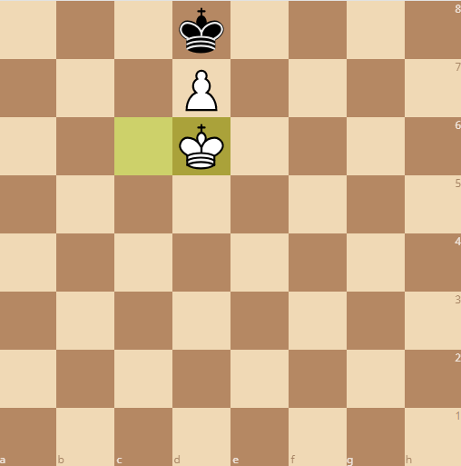 the pawn forces the king to the queening square ending in a stalemate
