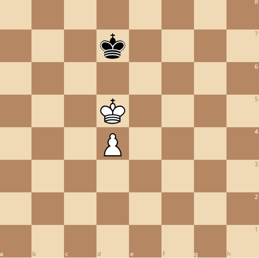 the king has to avoid stalemate